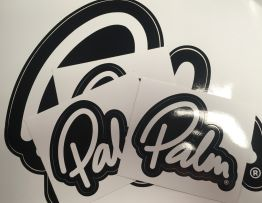 Palm Script Logo Sticker