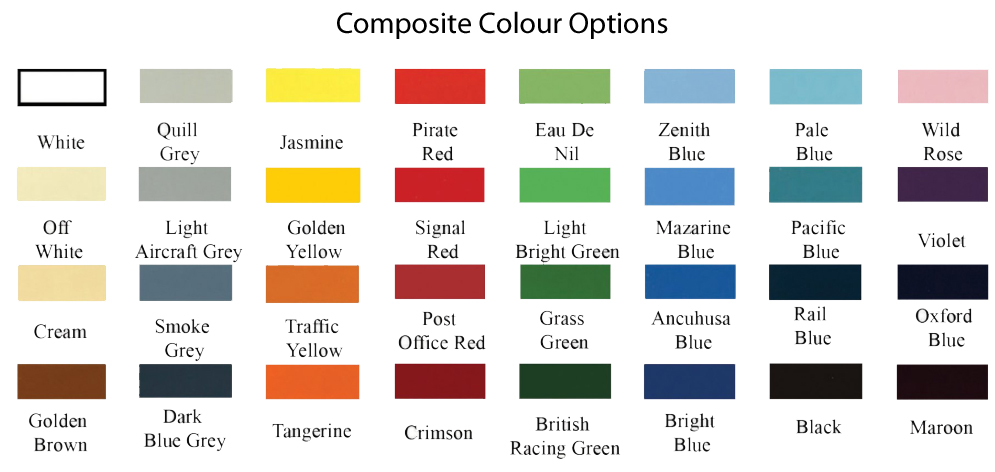 Valley Composite Colour Chart